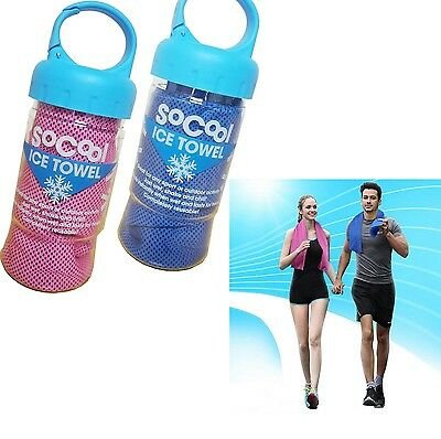 Instant Cooling Towel ICE Cold Golf Cycling Jogging Gym Sports Outdoor Reusable