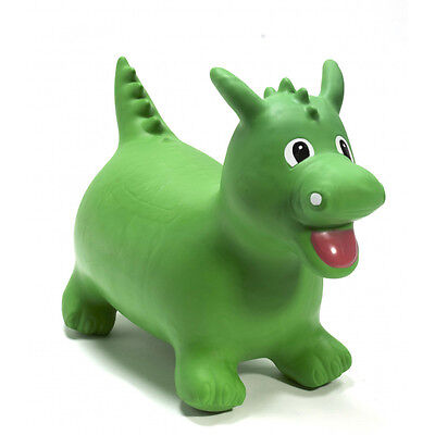 Happy Hopperz Ride On Bouncing Animal - Green Dino - Suitable from 12 Months