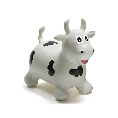 Happy Hopperz Ride On Bouncing Animal - White Bull - Suitable from 12 Months
