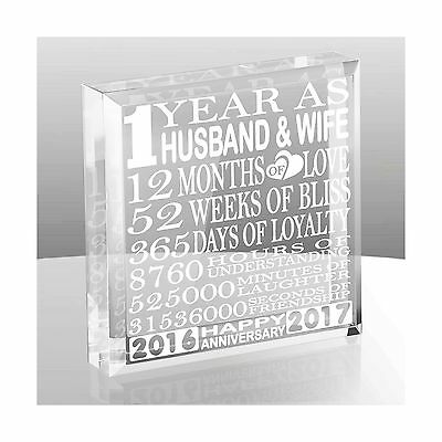 Kate Posh - 1 Year as Husband and Wife - Our First Anniversary Gift Paperweig