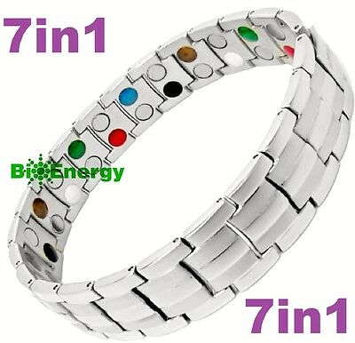 7in1 TITANIUM strong Magnetic Energy Armband Power Bracelet Bio GERMANIUM 698745