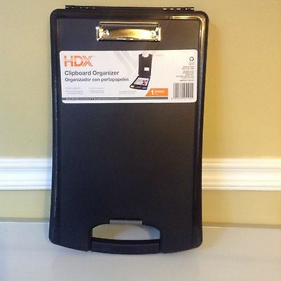 "NEW Clipboard Organizer with Storage, Black, 10"" X 16"", Handle"