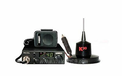 CB Radio and Magnetic Antenna Package with lighter plug for easy plug-n-play