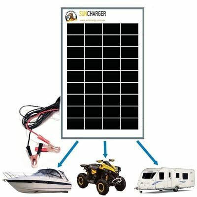 Waterproof 20W 12V Portable SOLAR TRICKLE BATTERY CHARGER 4A REGULATOR car RV