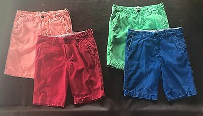 Abercrombie for kids lot of 4 (green orange red and blue) summer shorts size 16