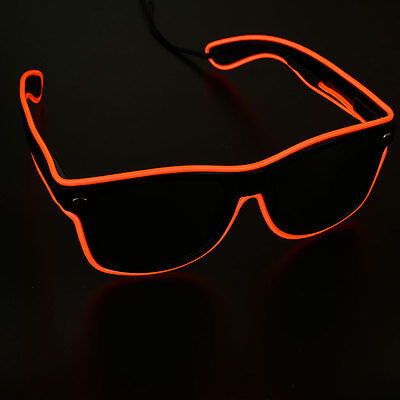 Neon El Wire LED Light Rave Glasses Funny Glowing Party Halloween Gift Eyewear