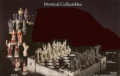 *Doc Holliday Ceramic Mystical Chess Set Ready to Paint*