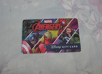 Disney Marvel Avengers Gift Card - No Balance, $0, Empty Collectible Card