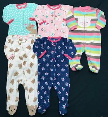 Baby GIRL 6 months 6-9 months ALL Carter's 1pc NEW SLEEPER PAJAMA Clothes LOT