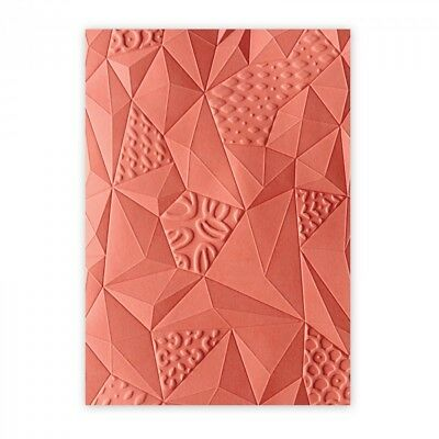 Sizzix 3-D Embossing Folder Jumbled Triangles 661259