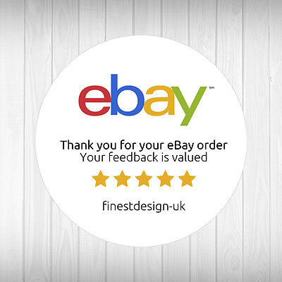 Personalised Round eBay Thank You Round Labels / Stickers for Postage / Mail