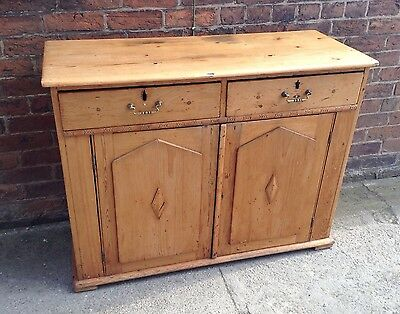Scumble Antique Pine Victorian Sideboard Farmhouse