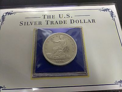 1878-S San Francisco Mint Silver Trade Dollar PCS COIN AND STAMP $1