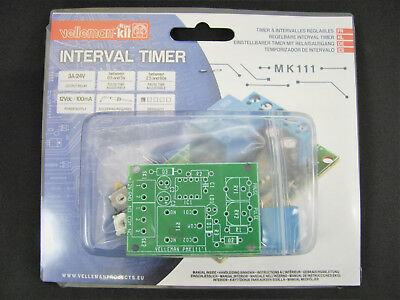 1x Velleman MK111 Interval Timer DIY Soldering Mini Kit Project, NEW!