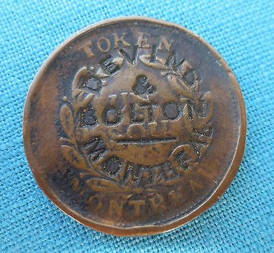 Devins & Bolton Montreal Counter Stamped Large Coin Montreal Token Rare