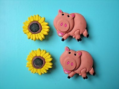 Clog Shoe Charms Button For Accessories For WristBand Sun Flower