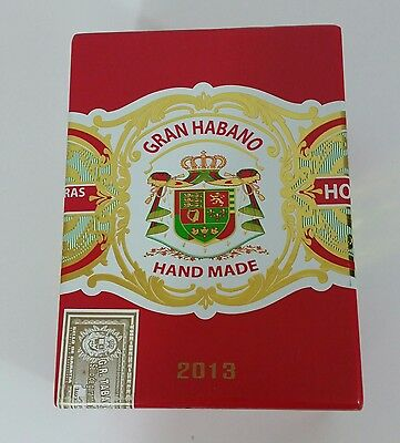 GRAN HABANO Made by Guillermo Rico Empty Wooden Cigar Box Red Corojo #5 2013