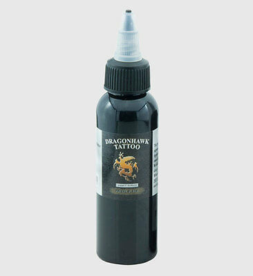 DragonHawk Tattoofarbe Tribal Schwarz Black 60 ml Tattoo Farbe Tätowierfarbe Ink