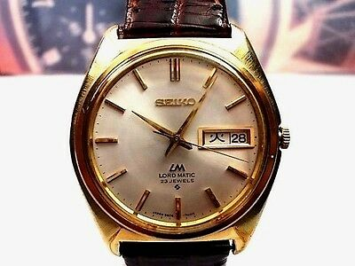 Reloj Seiko Lm  Automatic Caballero Laminado Oro Men's Watch Mov. 5606-7000,