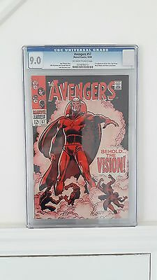 Avengers #57 CGC Grade 9.0 Marvel Comics 1st Appearance of the Vision UK based