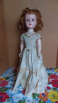 """VTG marked American Character Sweet Sue 1950's Walker doll  w/ dress 17"""" compo"""