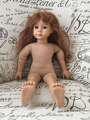 VTG Heidi Ott Maggie Doll Retired Red Hair Light Skin Brown Eyes Molded Face
