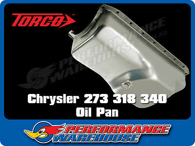 Chrysler 273 318 340 Steel Oil Pan Sump Replacement Style