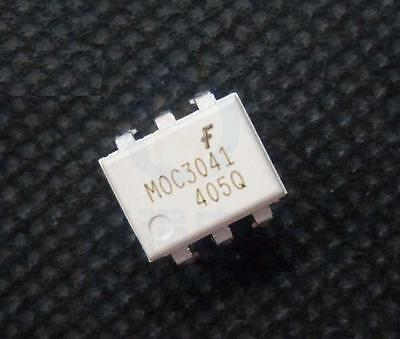 10PCS MOC3041 Zero-Cross Optoisolators Triac Driver DIP NEW