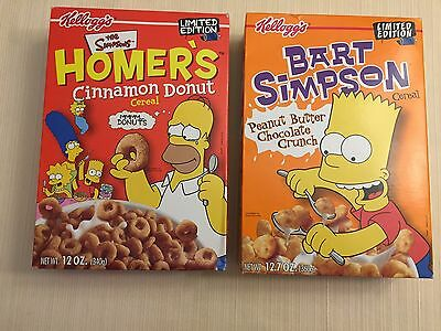 2001 Kellogg's Limited Edition The Simpsons Homer's Donut And Bart's Cereal