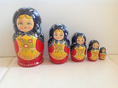 Russian Nesting Matryoshka from S. Posad Russia Signed by Artist