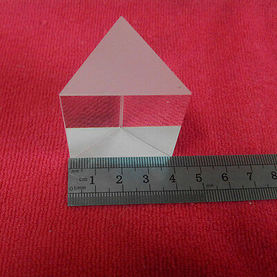 K9 Optical Glass Equilateral Triple Triangular Triangle Prism Optics Experiment
