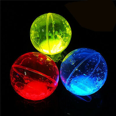 Glow Bounce Kids Light up Toy Balls Glowing in the Dark High Bouncing Balls  EB5