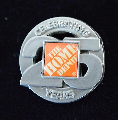 Home Depot Celebrating 25 years Apron Pin NIP
