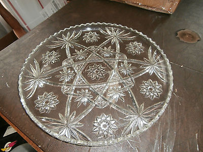 "SET OF 8 ANCHOR HOCKING EAPC STAR OF DAVID 13.5"" SERVING TRAY Cake/dinner plate"