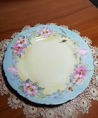 "Vintage 1907 KPM Germany Hand Painted Porcelain 7.75"" Plate"