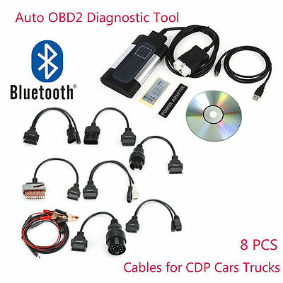 2019 Bluetooth TCS CDP Pro Plus for autocom OBD2 Diagnostic Tool+8PCS Car Cable
