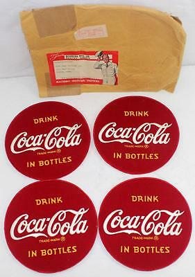 4 - Rare NOS 1950s COCA COLA in BOTTLES Jacket Back Patches w/ Original Envelope