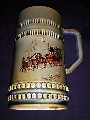 Wade Co Armagh - Irish Porecelain Stein, Mug, Cup - Horse and Carriage