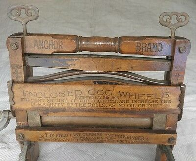 Antique Anchor Brand Lovell Pat. 1896 Clothes Wringer Washer Rare