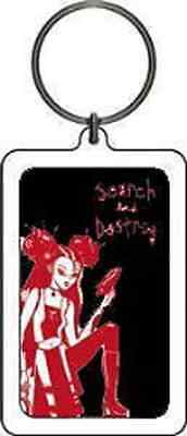 MISS KITTY KEYCHAIN Search & Destroy Logo NEW OFFICIAL MERCHANDISE