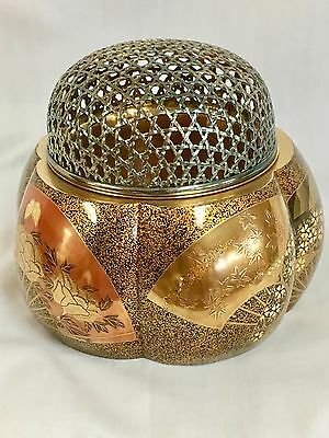 Museum Quality Meiji Lacquer and Silver Incense Burner