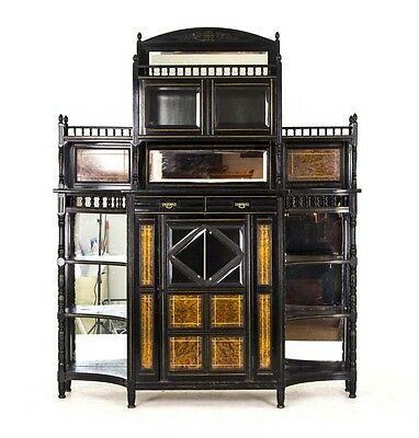 Side Cabinet | 19th Cy Aesthetic Movement | Ebonized Wood | England 1880 | B750