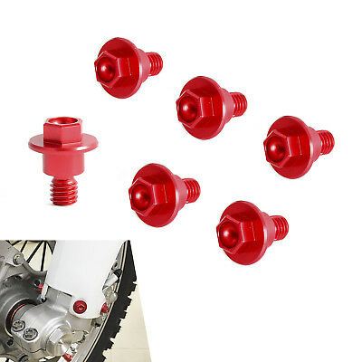 6x CNC Front Fork Guard Bolts Screw for Honda CR125 CR250 CR80 CR85 1990-2007