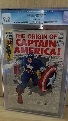 Captain America #109 CGC High Grade 9.2 Marvel Comics sought after issue