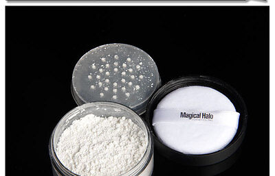 Magical Halo Makeup Primer Loose Powder with Puff Setting Powder Brand New