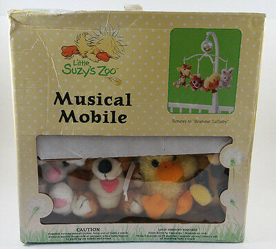 LITTLE SUZYS ZOO Plush Crib MUSICAL MOBILE - UNUSED! FREE SHIPPING!