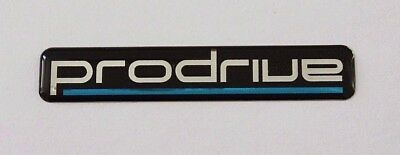 PRODRIVE Sticker/Decal Chrome on Black 120mm x 22mm HIGH GLOSS DOMED GEL FINISH