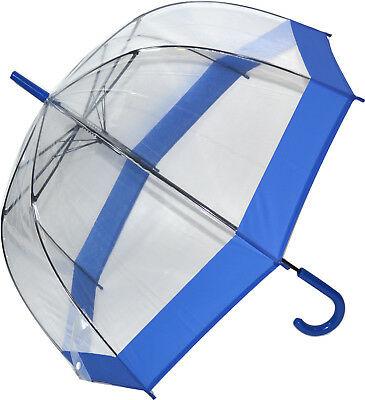 Soake Clear Dome Umbrella - Bright Blue