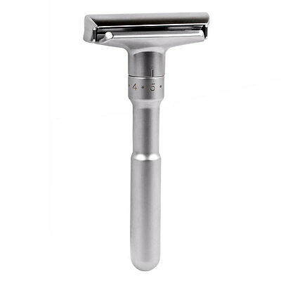Men's Adjustable Safety Razor Sliver Classic Safety 1 Handle & 1 Blades