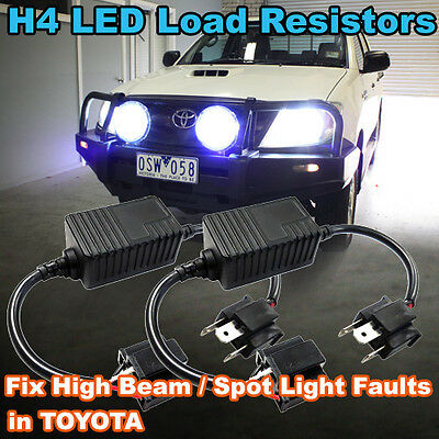 Pair of H4 LED Headlight Load Resistors to Fix TOYOTA High Beam Spot Light Fault